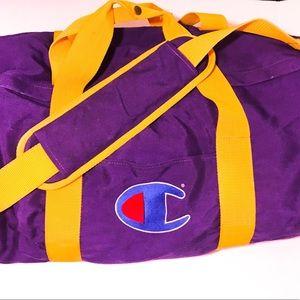 Vintage RARE Champion Duffel Bag!!